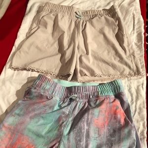 NWOT two pair of ivivva play away shorts size 12